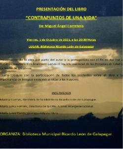 Invitación a la presentación del libro «Contrapuntos de una vida»