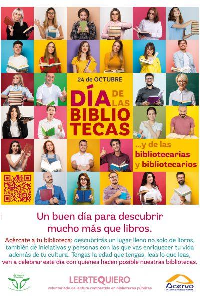 La Asociación Española para la Promoción de un Envejecimiento Activo y Socialmente Contributivo, Acervo Intergeneracional, construye sus proyectos en torno a la lectura compartida como beneficio social para sus voluntarios, los beneficiarios de los programas y la comunidad en su conjunto apoyada en la red de Bibliotecas Públicas.